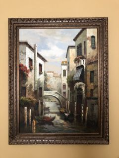 Absolutely gorgeous Tuscan oil painting.