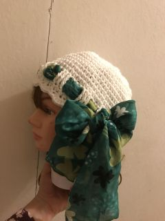 Crochet Scarf Hat for St. Patrick s Day