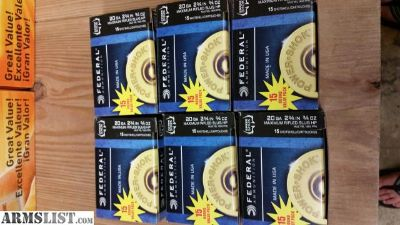 For Sale: Federal 20 gauge slugs 15 pack
