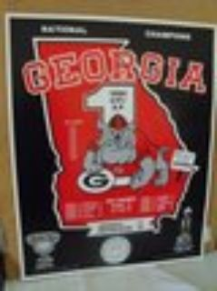 1980 Georgia BULLDOG National Champions Poster