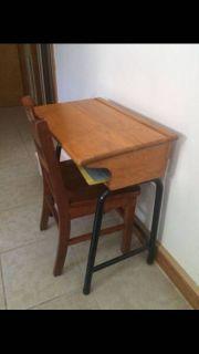 Child s School Desk & Chair