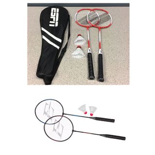 EastPoint Sports 2-Player Badminton Racket Set with Steel Shafts