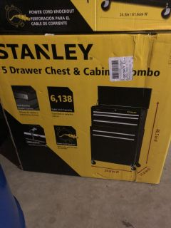 Stanley 5 drawer chest and cabinet combo