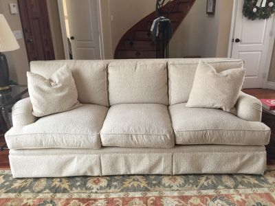 Traditional Style Cream Sofa- Down Blend