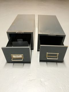 Steel Master index card file cabinets