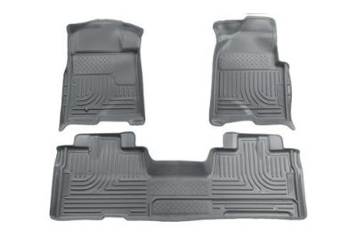 Buy Husky Liners 98342 09-13 Ford F-150 Gray Custom Floor Mats 1st, 2nd Row motorcycle in Winfield, Kansas, US, for US $170.95