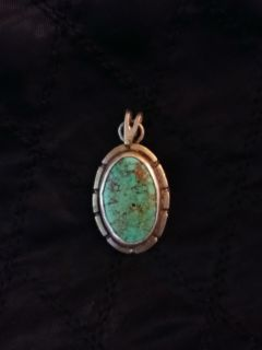 .925 and Turquoise Pendant