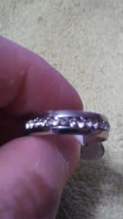 Men/Women CZ Couple Stainless Steel Wedding Ring Band SIZE 9