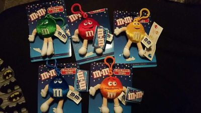 5 new M&M backpack clips $5
