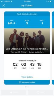 Old Dominion & Friends at the Ryman tickets