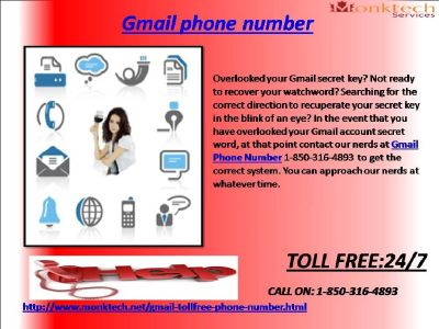 gmail Phone quantity: a quick support for in recent times 1-850-361-8504