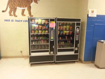 several vending machines