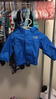 6-12 month north face raincoat with hood