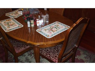 DINING ROOM SET 9PC FRENCH PROVENCIAL DINING ...