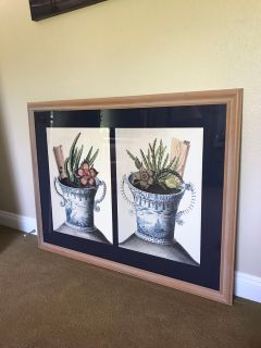 Large picture w/ solid wood frame