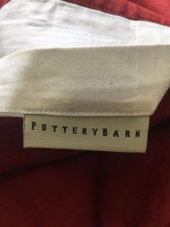 Pottery Barn lined curtain panels - Deep Red (2)