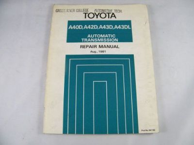 Buy 1981 TOYOTA OEM ORIGINAL AUTOMATIC TRANSMISSION REPAIR MANUAL A40D, A42D, A43D motorcycle in Bellingham, Washington, United States, for US $35.00