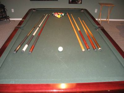 pool table and sests