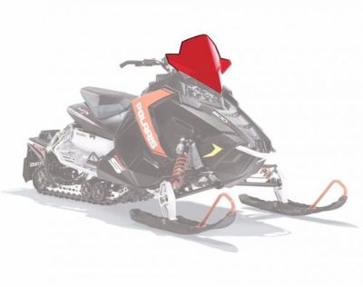 Purchase Polaris AXYS Mid Snowmobile Windshield Color: red Part # 2880392 motorcycle in North Adams, Massachusetts, United States, for US $109.99