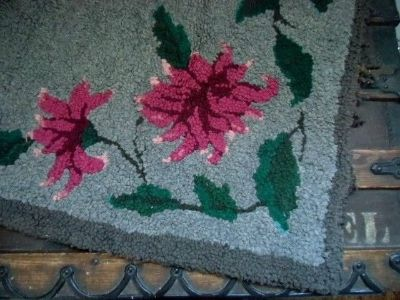 antique hand hooked rug victorian floral