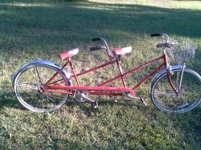 Vintage SCHWINN Twinn Tandem Bicycle Red