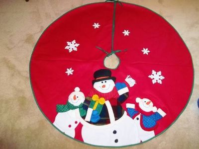 Christmas Tree Skirt - Cute Snowmen - L@@K!