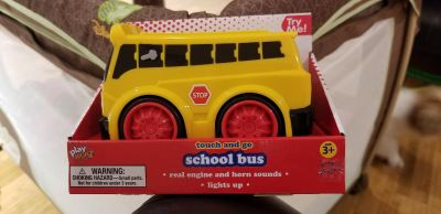 Touch and go school bus with lights and sound