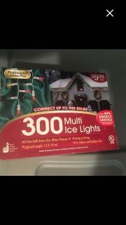 New in box 300 ct Multi Icicle Lights