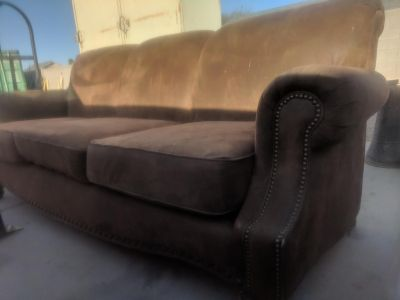 Microfiber suede couch