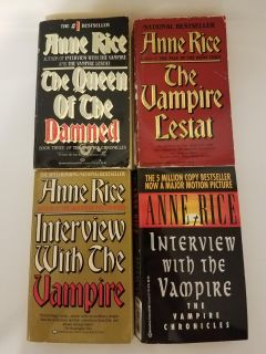 Lot of 4 Anne Rice Paperback Books