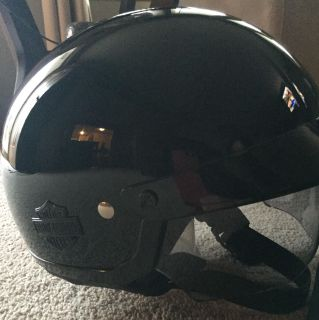 Harley-Davidson half helmet with retractable sun shield SMALL with HD carrying bag