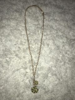 Knock-off Tory Burch Long Gold Chain Necklace Lime Green
