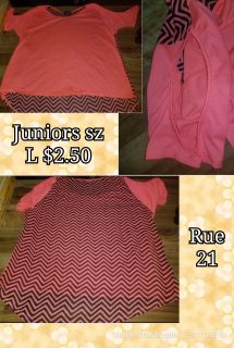 Juniors girl sz L shirt