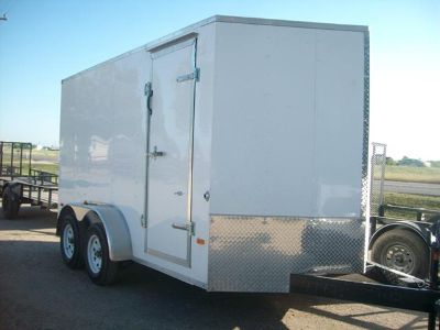 $4,995, 7x12 2013 White Enclosed Trailer-$4995