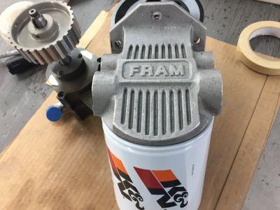 remote oil filter mount