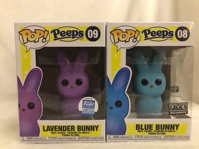 Funko pop peeps 08 and 09 Funko shop and fye exclusives
