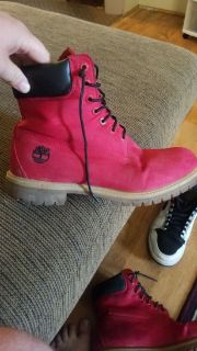 Limited edition Timberland boots Red camo (rare)