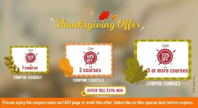 few Hours Left Thanksgiving offer - 70 % OFF