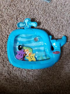 Whale water play mat.