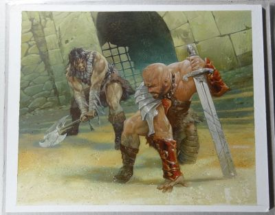 "DAVE DORMAN - Original Signed Painting ""Battle Strain"" - Magic The Gathering Odyssey"