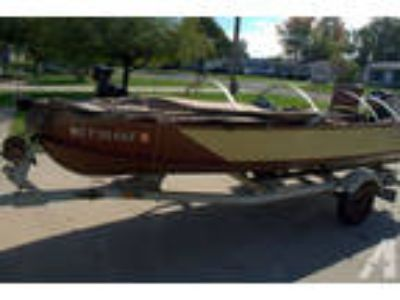 Vintage Wooden Higgins Fishing Boat,Trailer,18 HP Evinrude Motor, Cano