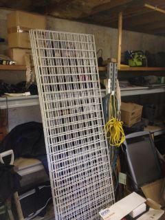 8' Black Metal Racking for sale