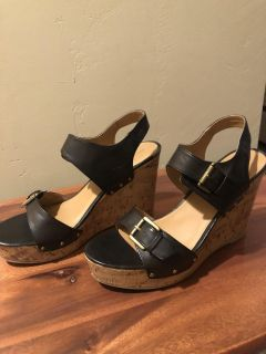 Mossimo Wedges, worn once, Size 10