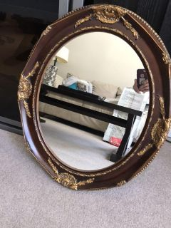 Stunning Mahogany mirror from GINGERS. 25.5 x 22