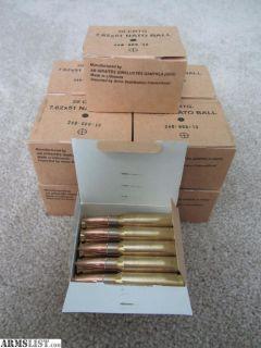 For Sale: 5 Boxes 7.62x51 NATO Spec 147 grain FMJ Ball plus Ammo Can