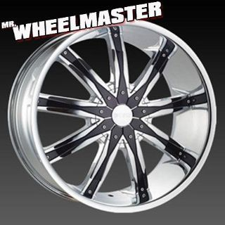 Sell (4) 20 inch wheels DCENTI 29 20x8.5 5X112/5x114.3 +35 Chrome w/Black Inserts motorcycle in San Antonio, Texas, US, for US $859.00