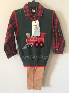 CUTE TODDLERS CHRISTMAS OUTFIT ! NEW FROM DILLARDS size 2 T