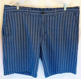 TOMMY BAHAMA Men s Sz. 40/42 Blue Striped Golf Shorts