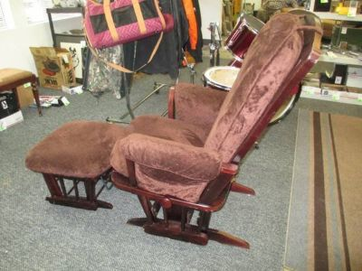 Dutailer Gliding Rocking Chair And Ottoman - Delivery Available