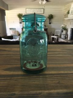 Blue Ball jar that is bicentennial edition